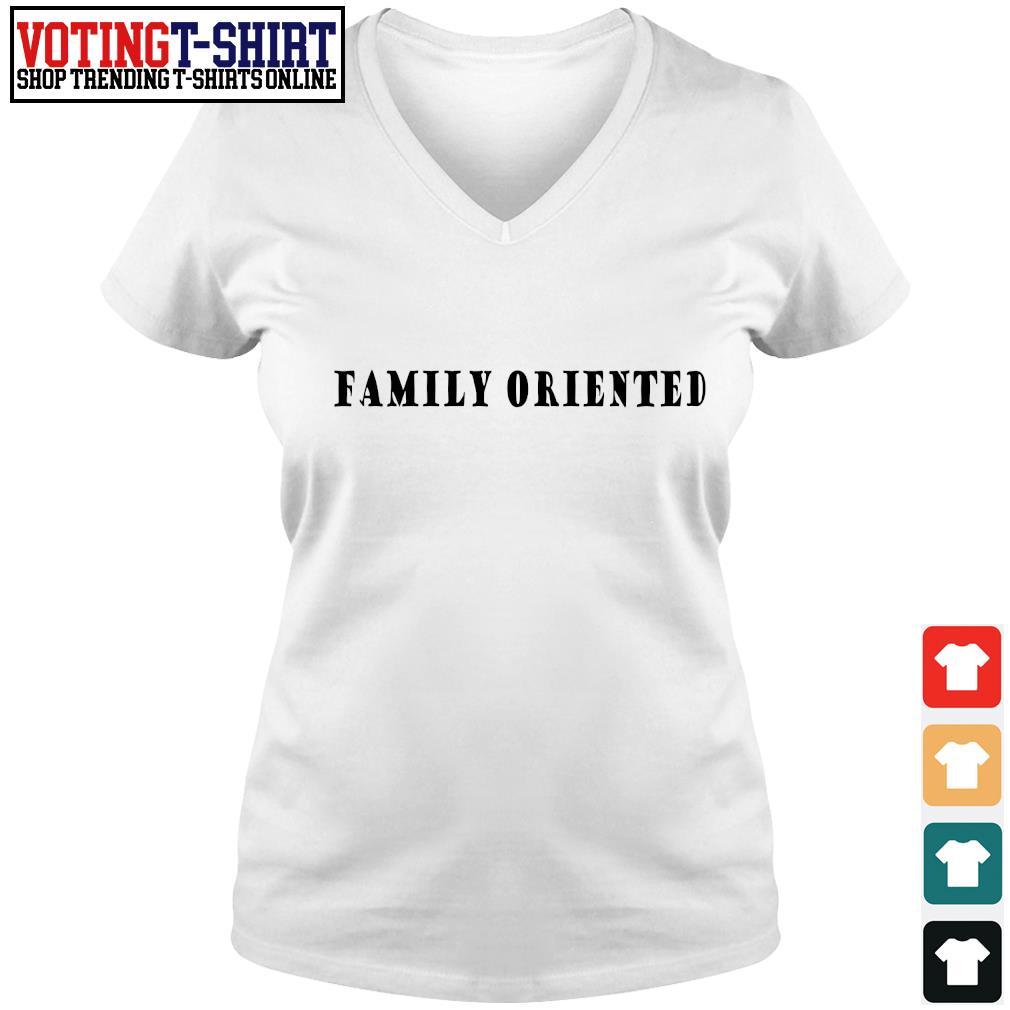 Family oriented s V-neck t-shirt