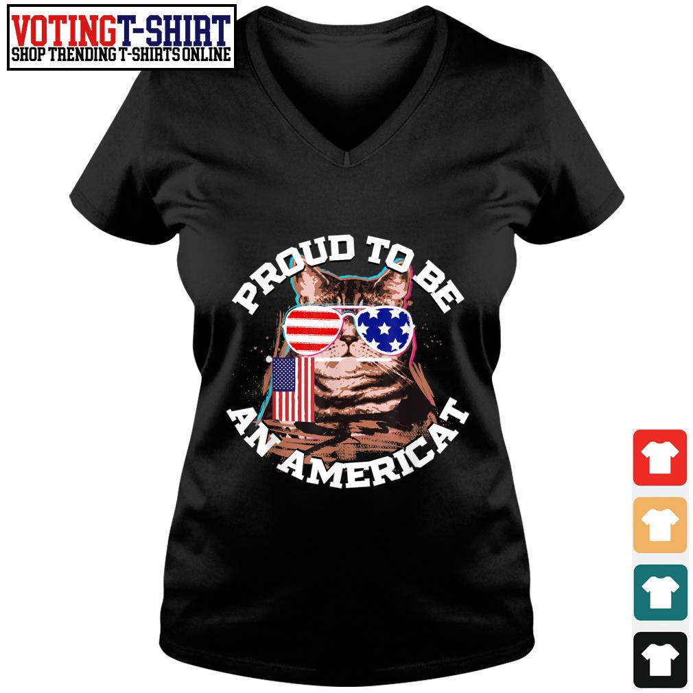 Proud to be an americat s V-neck t-shirt