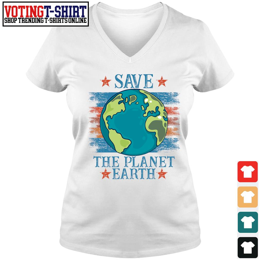 Save the planet earth s V-neck t-shirt