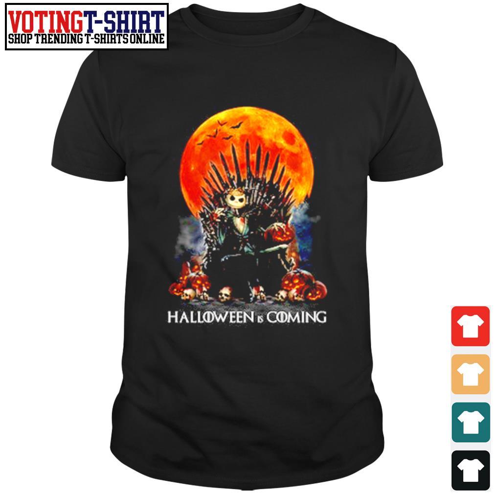 Skellington skull Halloween is coming shirt