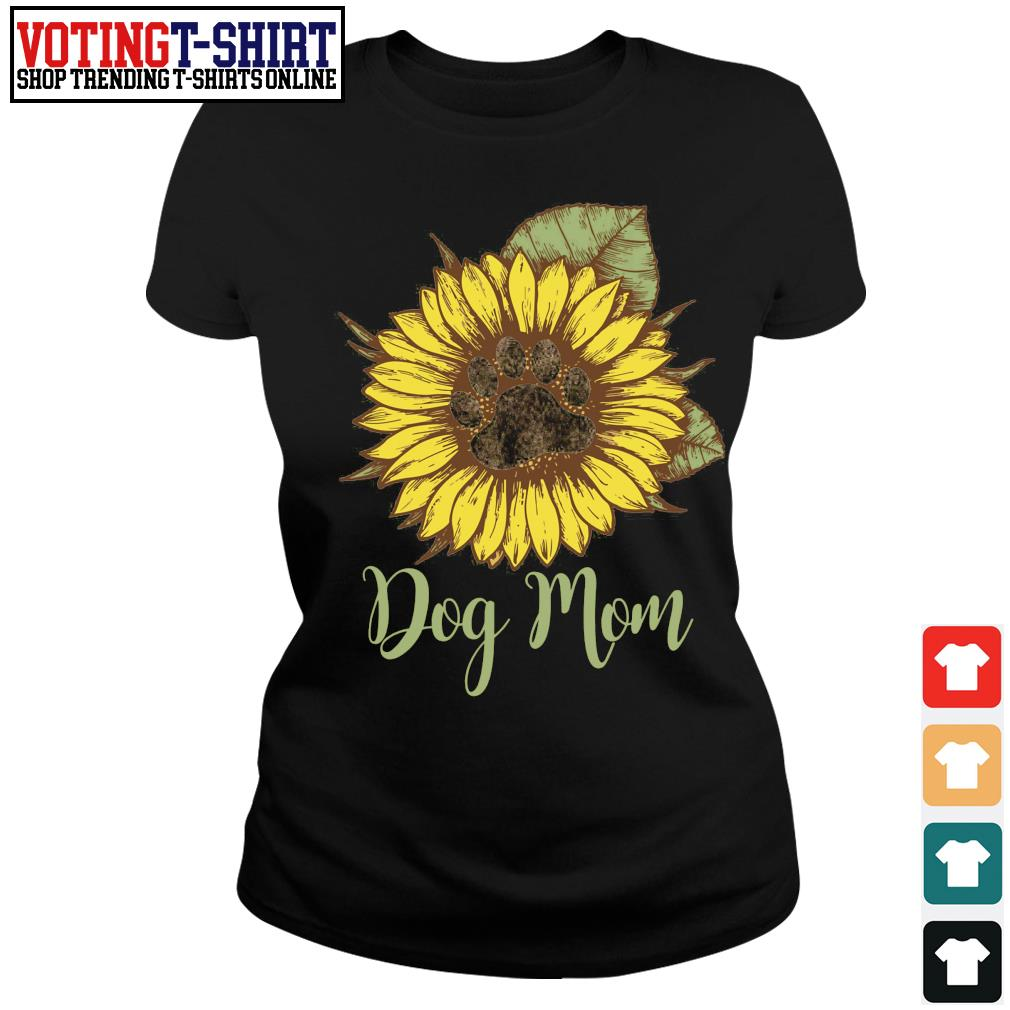 Sunflower paw dog mom s Ladies-tee