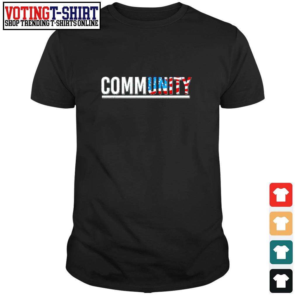 Community American flag shirt