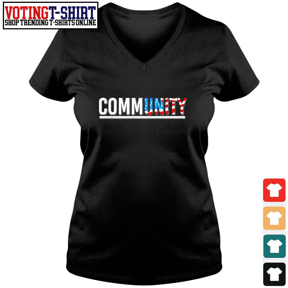 Community American flag s V-neck t-shirt