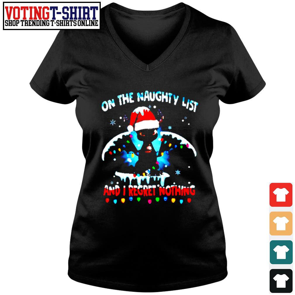 Dragon on the naughty list and I regret nothing Christmas s V-neck t-shirt