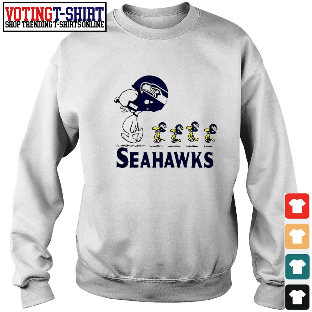 Snoopy and Woodstock player of Seattle Seahawks s Sweater