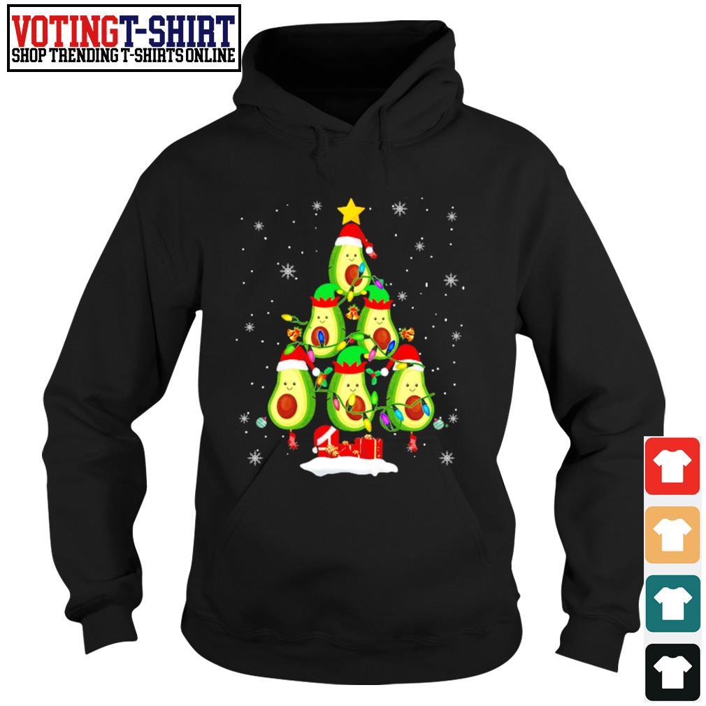 Avocado Christmas tree Santa Elf Avocado lover Christmas s Hoodie