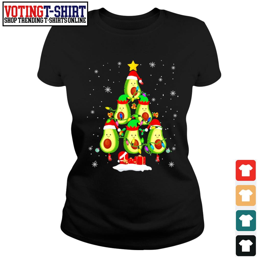 Avocado Christmas tree Santa Elf Avocado lover Christmas s Ladies-tee