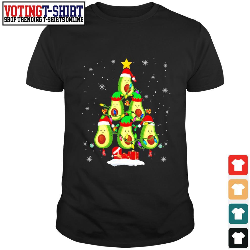 Avocado Christmas tree Santa Elf Avocado lover Christmas shirt
