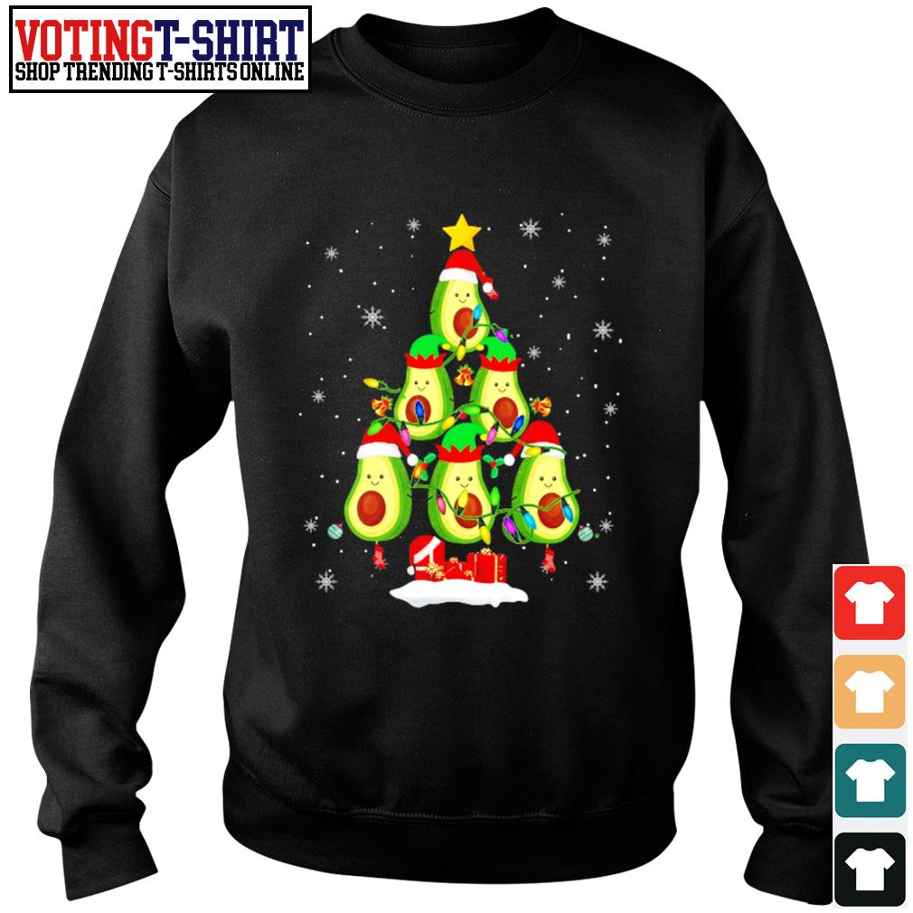 Avocado Christmas tree Santa Elf Avocado lover Christmas s Sweater