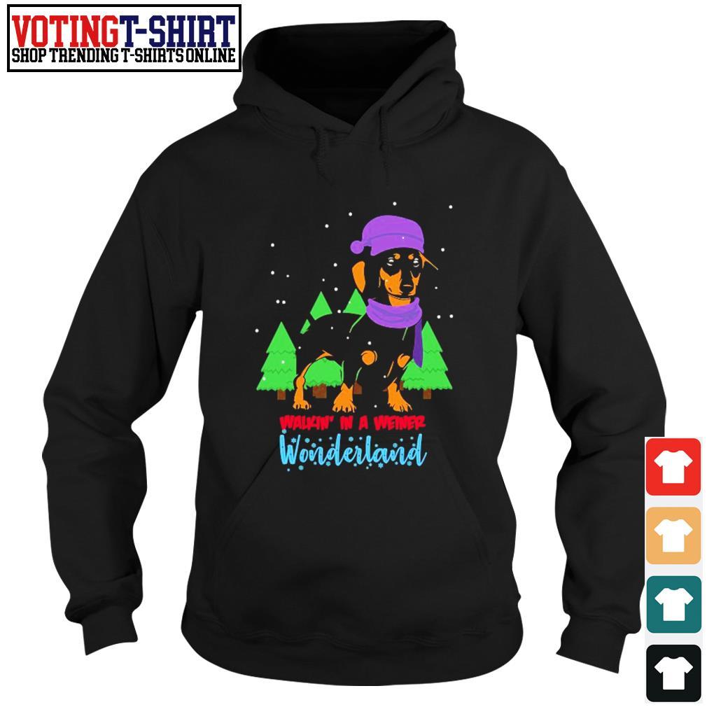 Dachshund walkin' in a weiner wonderland Christmas s Hoodie