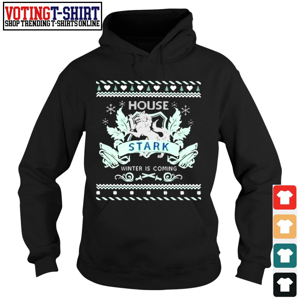 Game Of Thrones House Stark winter is coming ugly Christmas s Hoodie