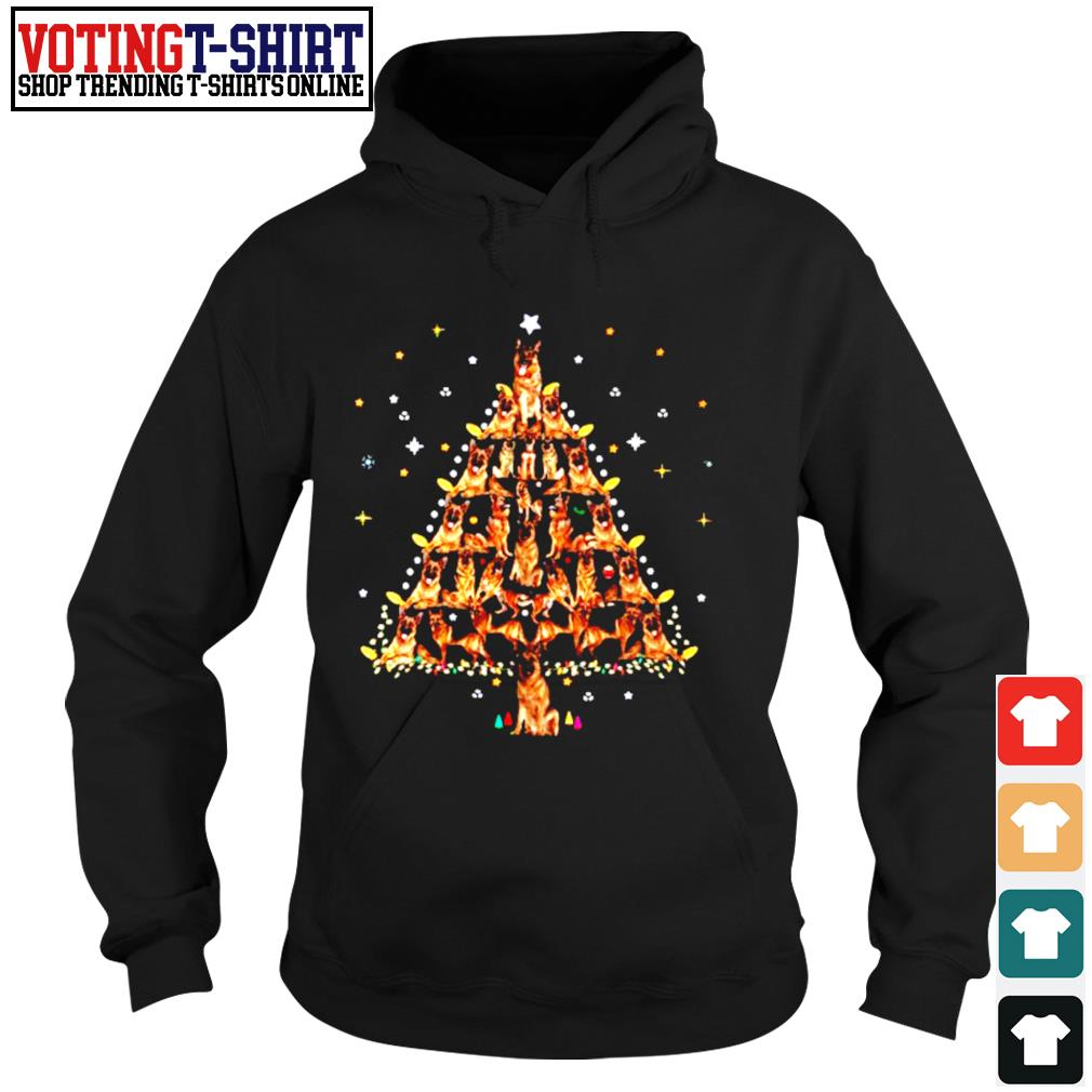 German Shepherd lights Christmas tree s Hoodie