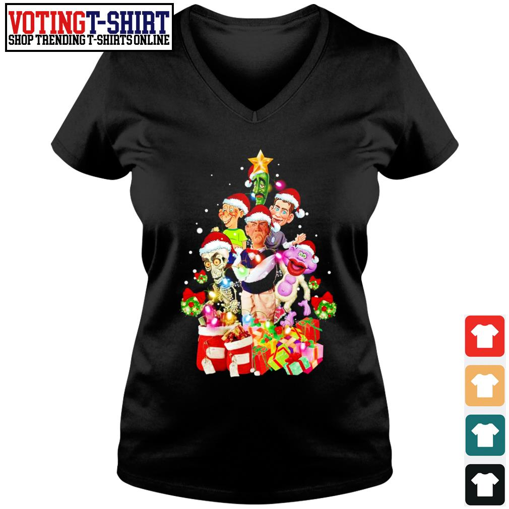 Jeff Dunham Christmas tree ugly s V-neck t-shirt