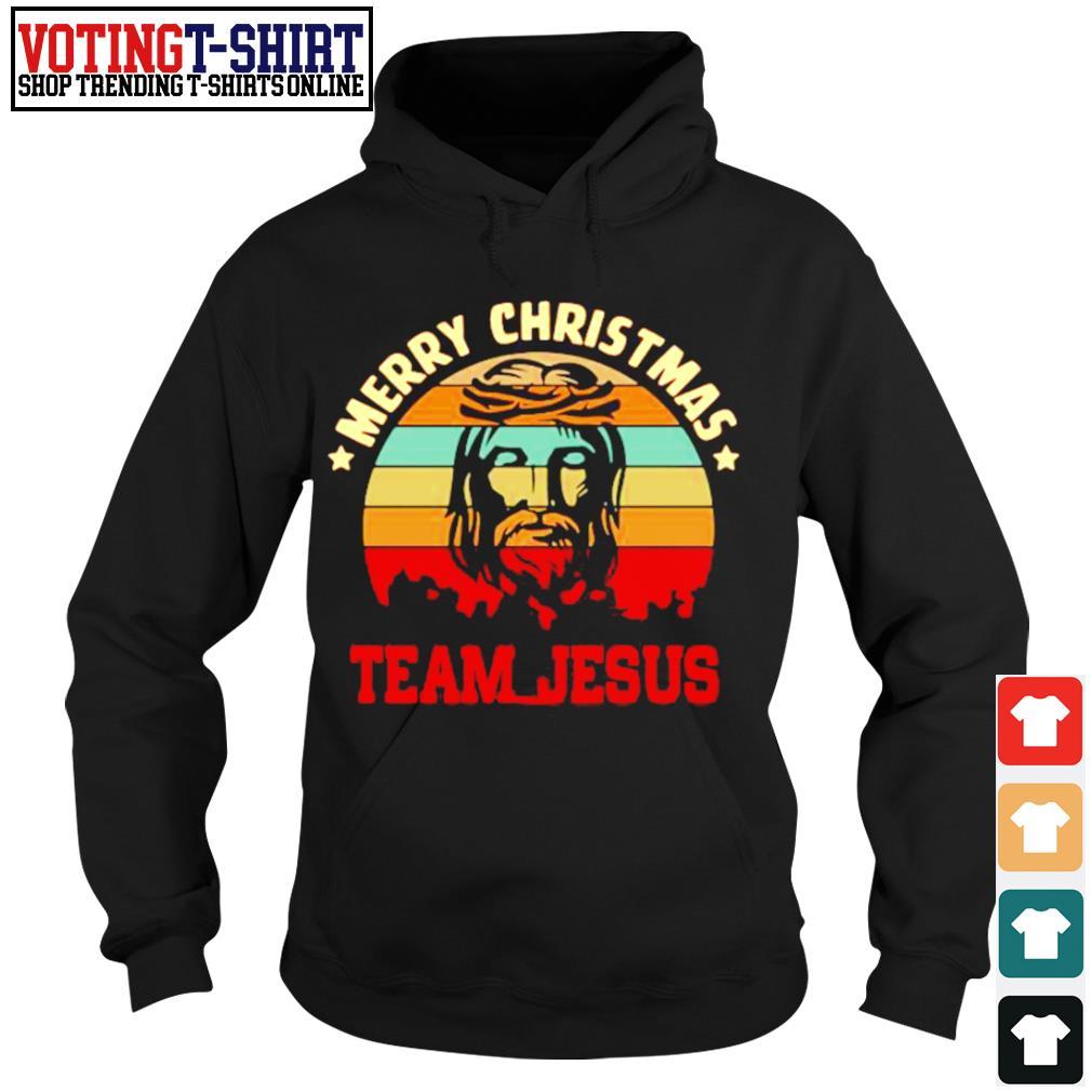 Merry Christmas Team Jesus vintage s Hoodie