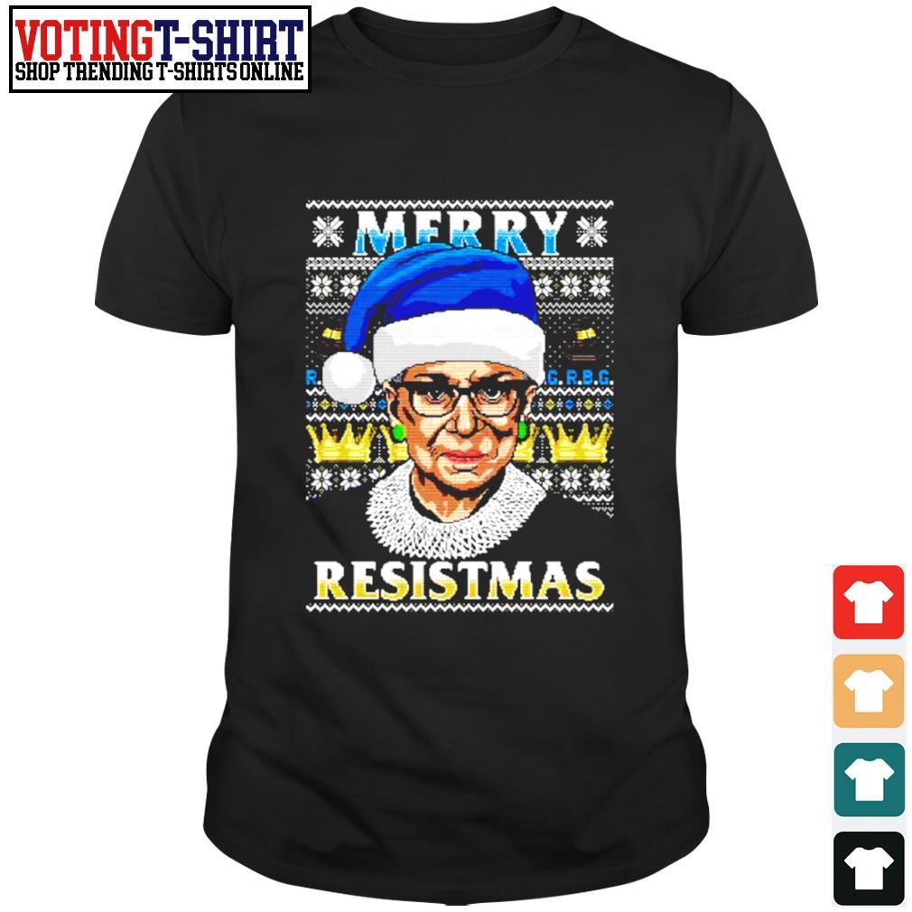 Notorious RBG Merry resistmas ugly Christmas shirt