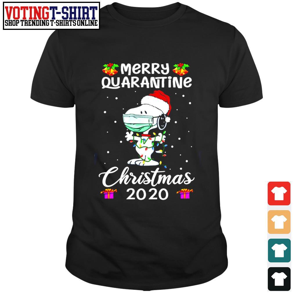 Snoopy Merry quarantine Christmas 2020 shirt